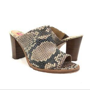 Elaine Turner Leather Snake Print Heels Sz 6.5